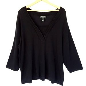 Cable & Gauge Black Quarter Length Top 3XL
